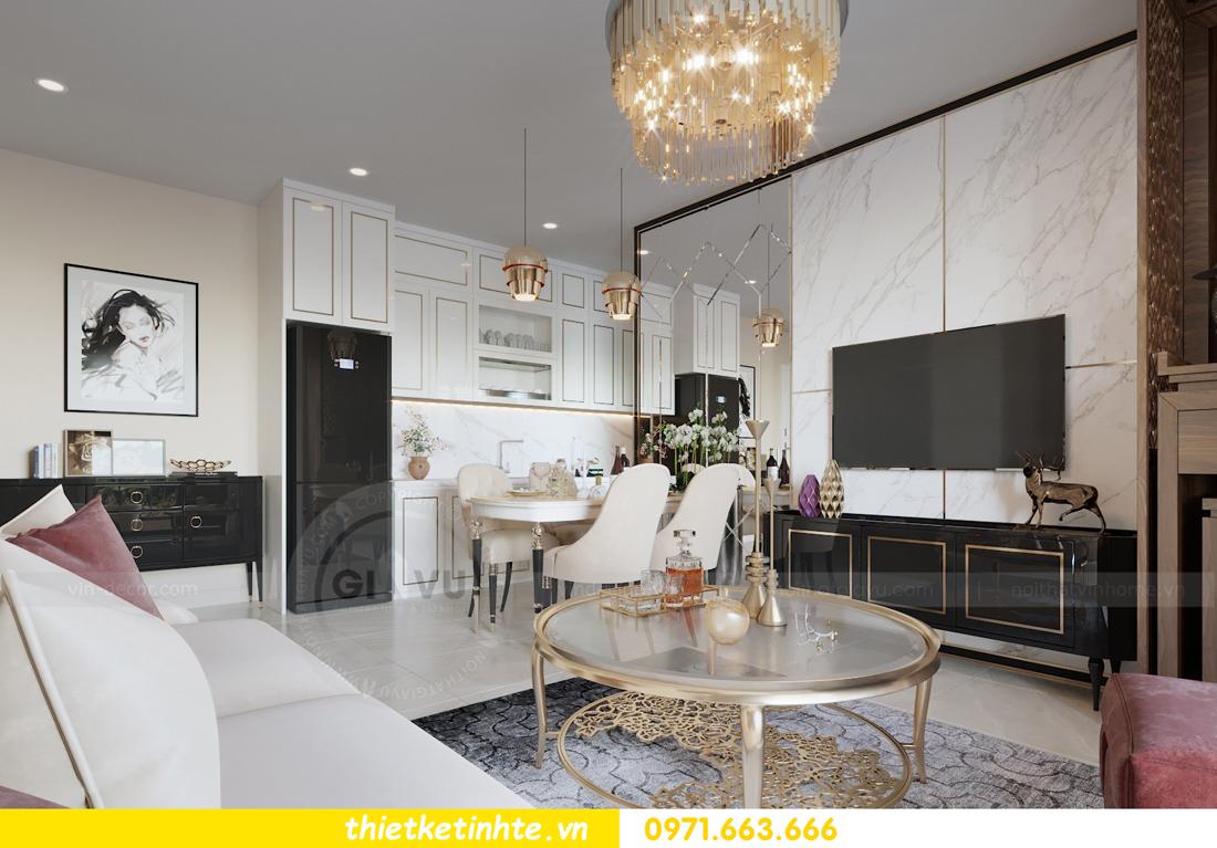 thiết kế nội thất chung cư hiện đại tòa C3 căn 05 Vinhomes D Capitale 04