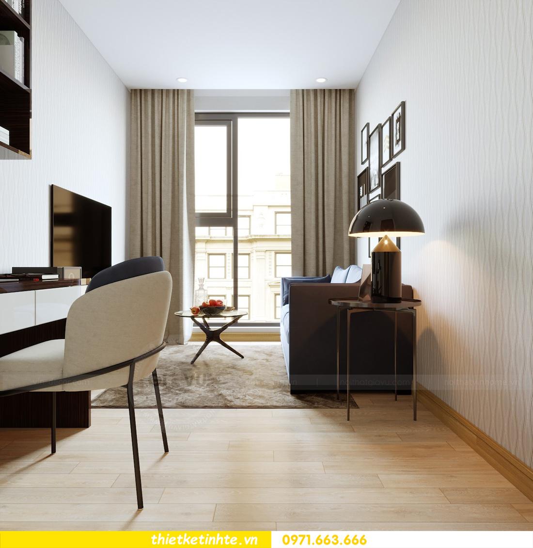 thiết kế nội thất căn hộ chung cư Metropolis tòa M2 căn 11 chú Minh 14