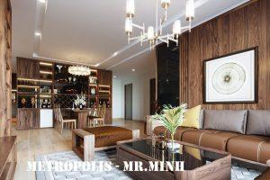 Thiết Kế Nội Thất Căn Hộ Chung Cư Metropolis Tòa M2 Căn 11 Nhà Chú Minh