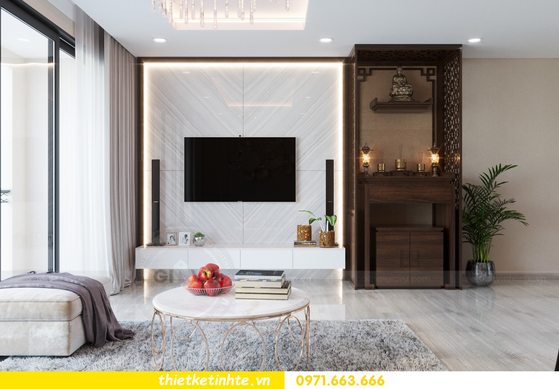 thiết kế nội thất chung cư hiện đại tòa C6 căn 03 View 4