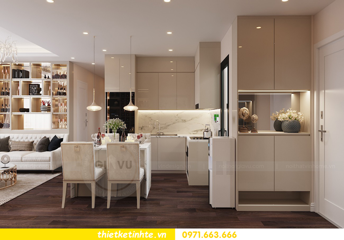 thiết kế nội thất chung cư Vinhomes D Capitale tòa C1 căn 10 - chị Bun 01