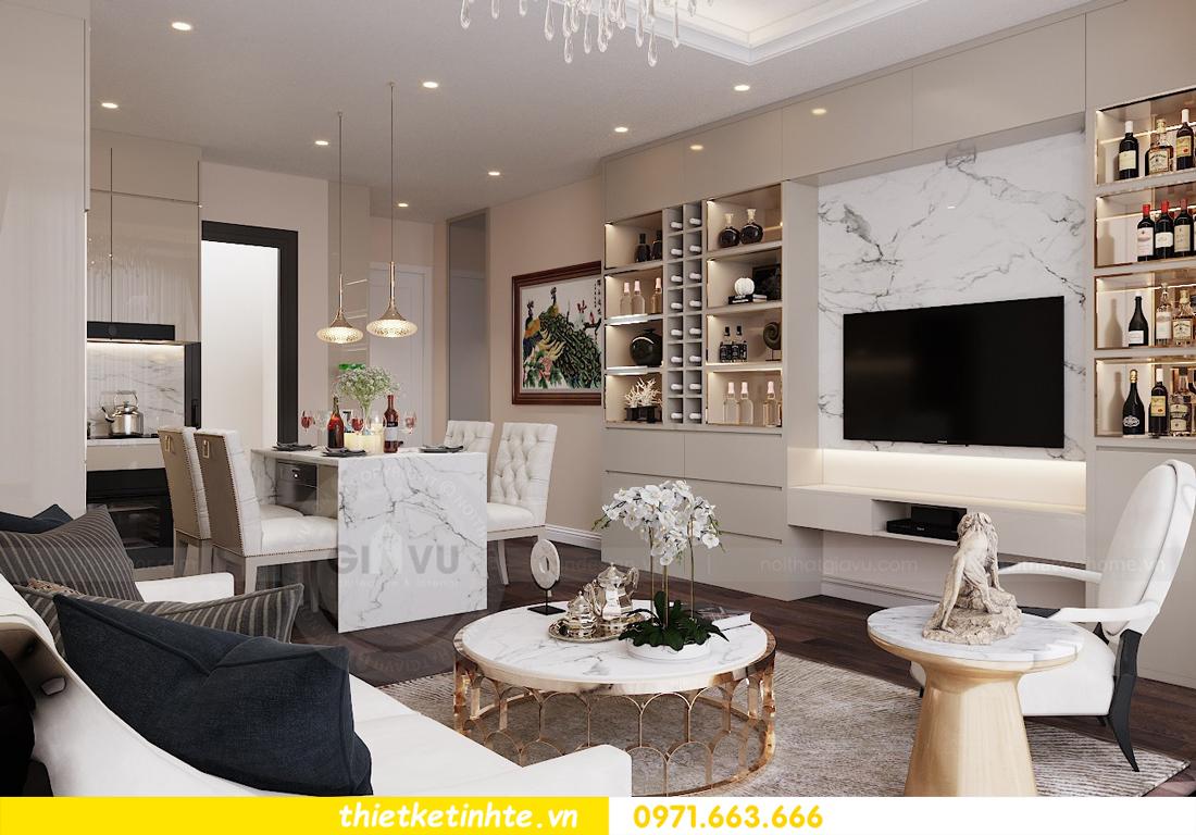 thiết kế nội thất chung cư Vinhomes D Capitale tòa C1 căn 10 - chị Bun 03