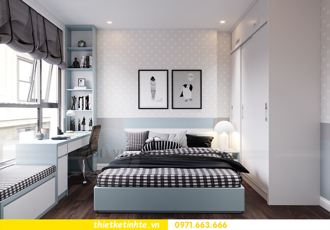 thiết kế nội thất chung cư Vinhomes D Capitale tòa C1 căn 10 - chị Bun 07