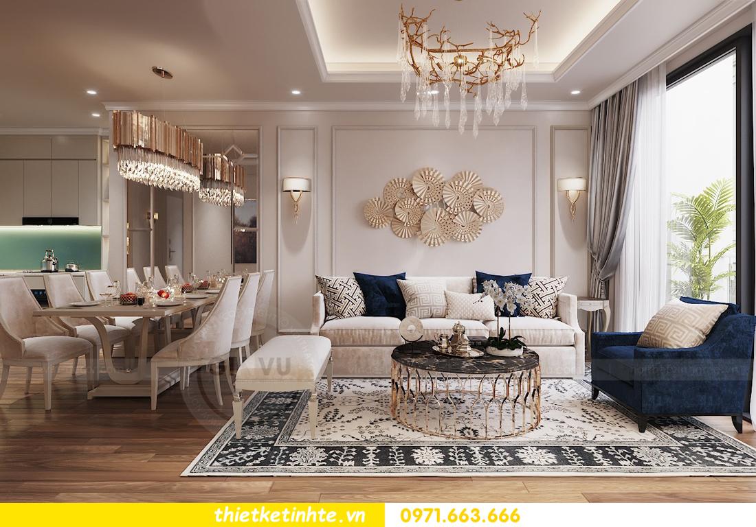 thiết kế nội thất chung cư Vinhomes Liễu Giai tòa M1-05 nhà chị Lan 04