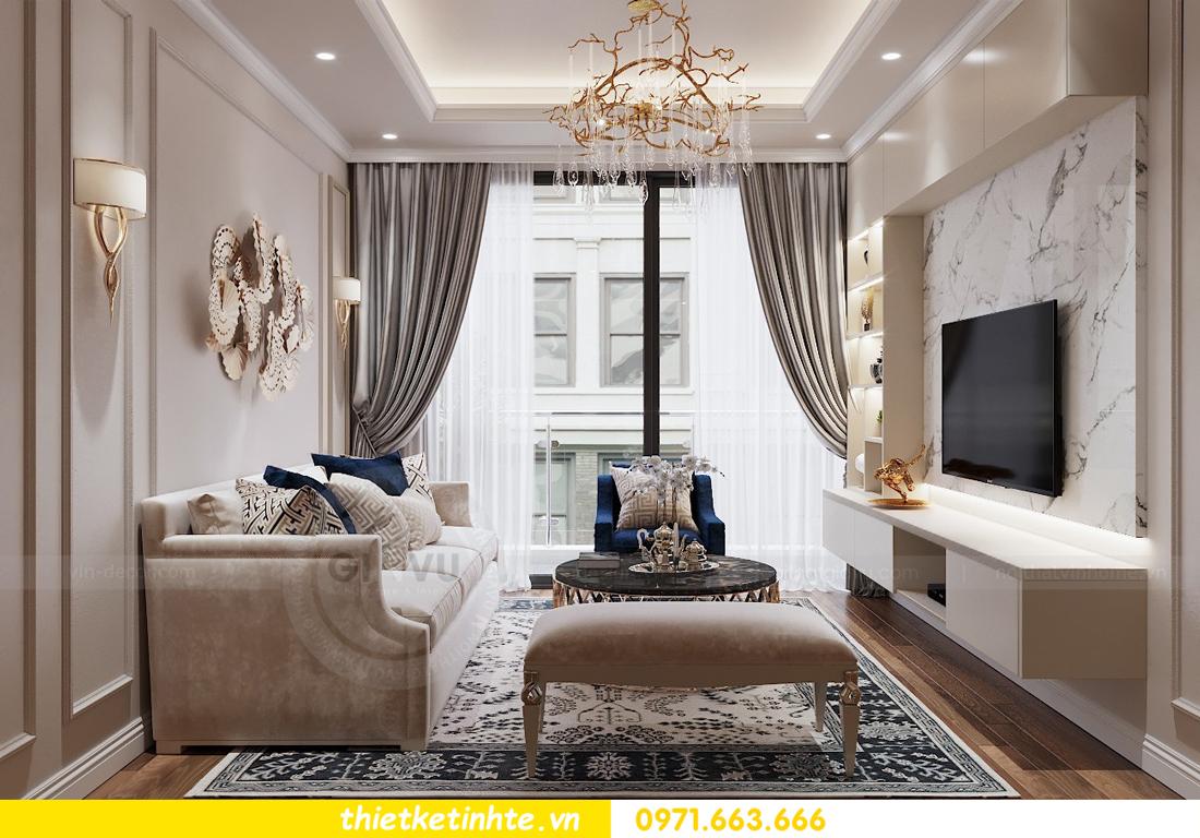 thiết kế nội thất chung cư Vinhomes Liễu Giai tòa M1-05 nhà chị Lan 05