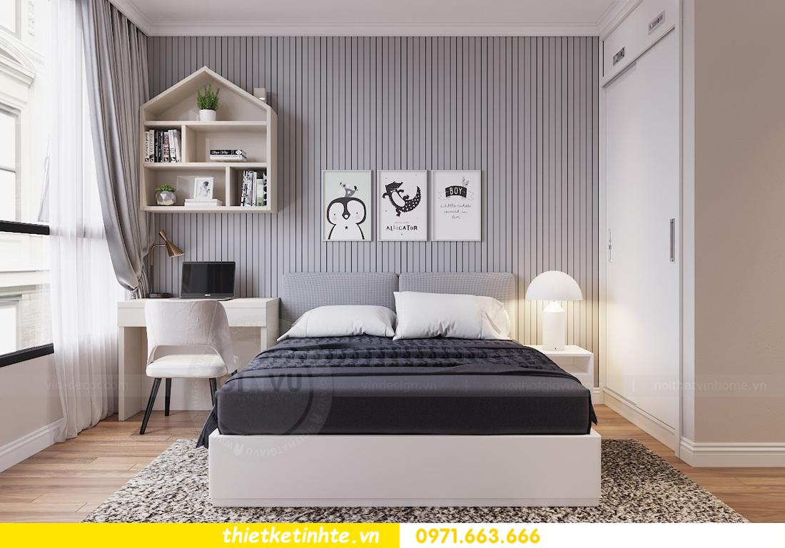 thiết kế nội thất chung cư Vinhomes Liễu Giai tòa M1-05 nhà chị Lan 09