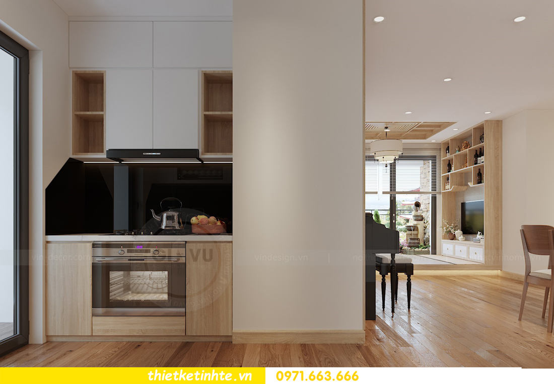 thiết kế nội thất chung cư Vinhomes Skylake theo phong cách Á Đông 04