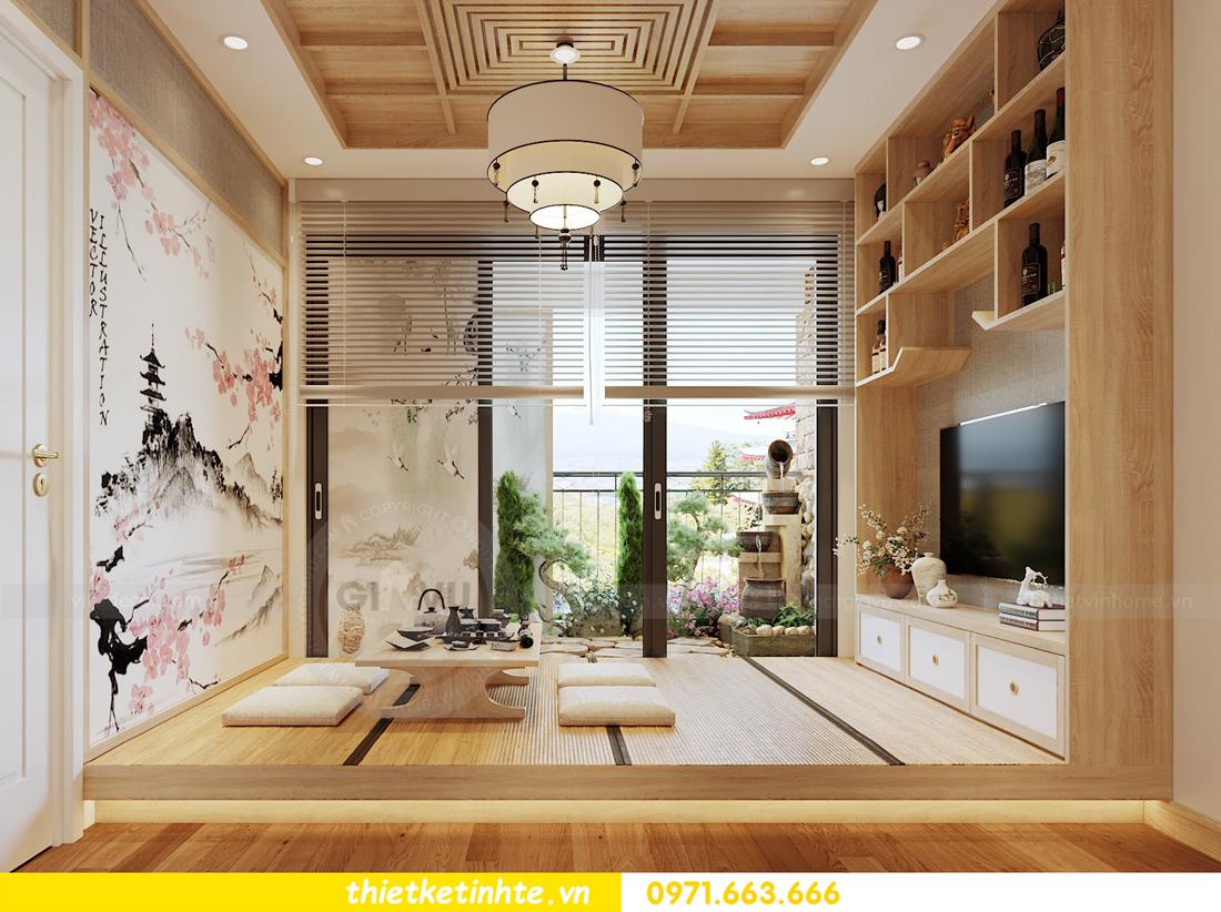 thiết kế nội thất chung cư Vinhomes Skylake theo phong cách Á Đông 05