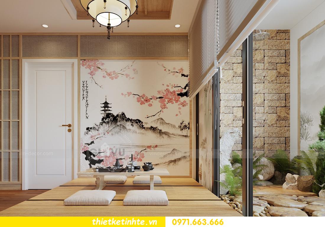 thiết kế nội thất chung cư Vinhomes Skylake theo phong cách Á Đông 06