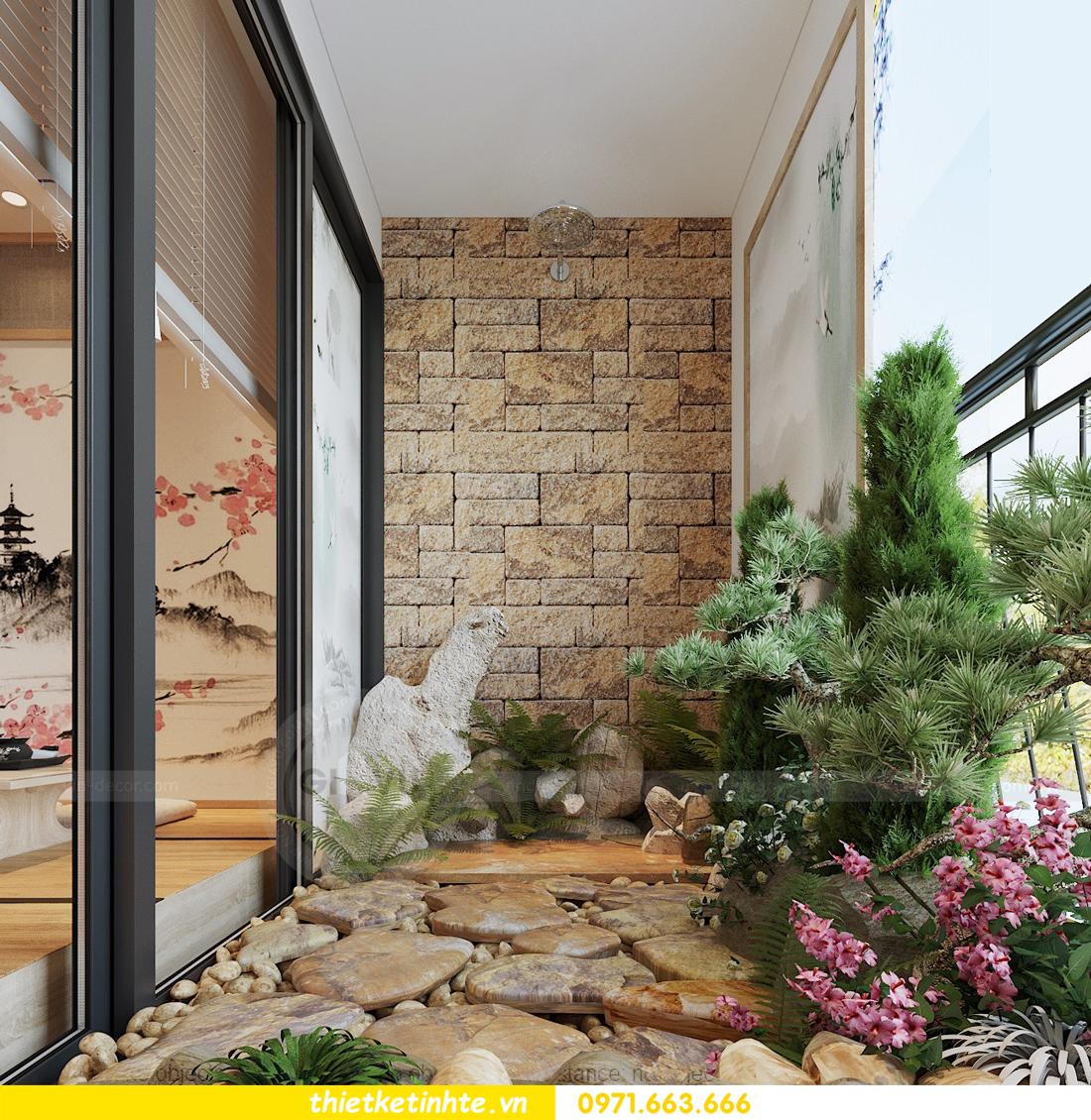 thiết kế nội thất chung cư Vinhomes Skylake theo phong cách Á Đông 07