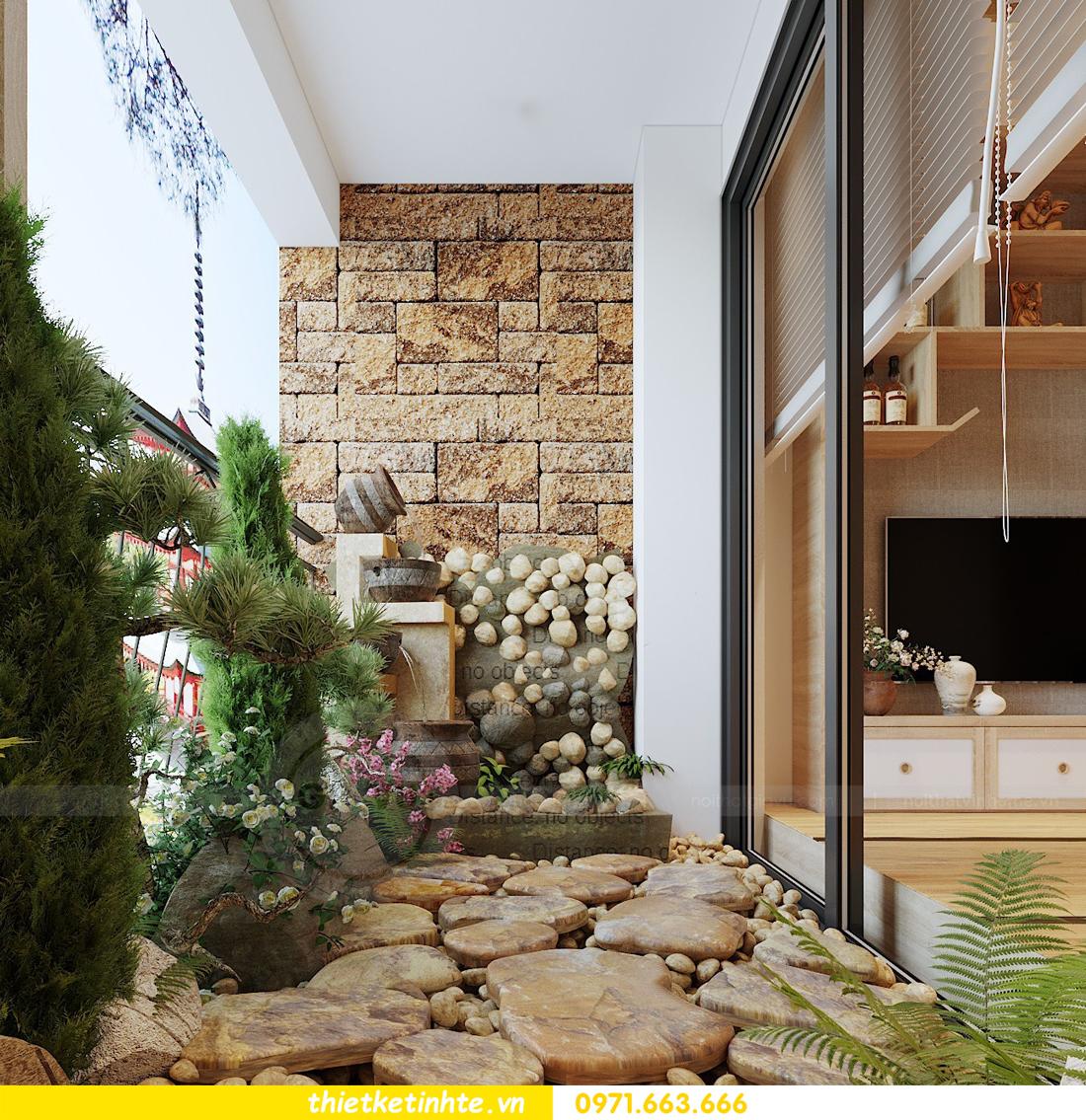 thiết kế nội thất chung cư Vinhomes Skylake theo phong cách Á Đông 08