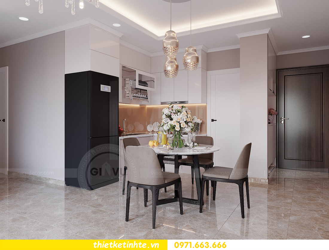 thiết kế nội thất hiện đại chung cư D Capitale tòa C1 căn 10 nhà anh Tuyên 02
