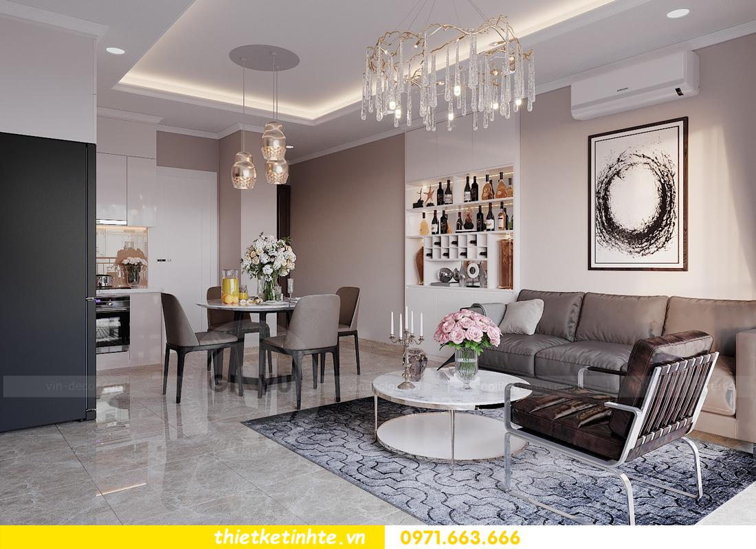 thiết kế nội thất hiện đại chung cư D Capitale tòa C1 căn 10 nhà anh Tuyên 03