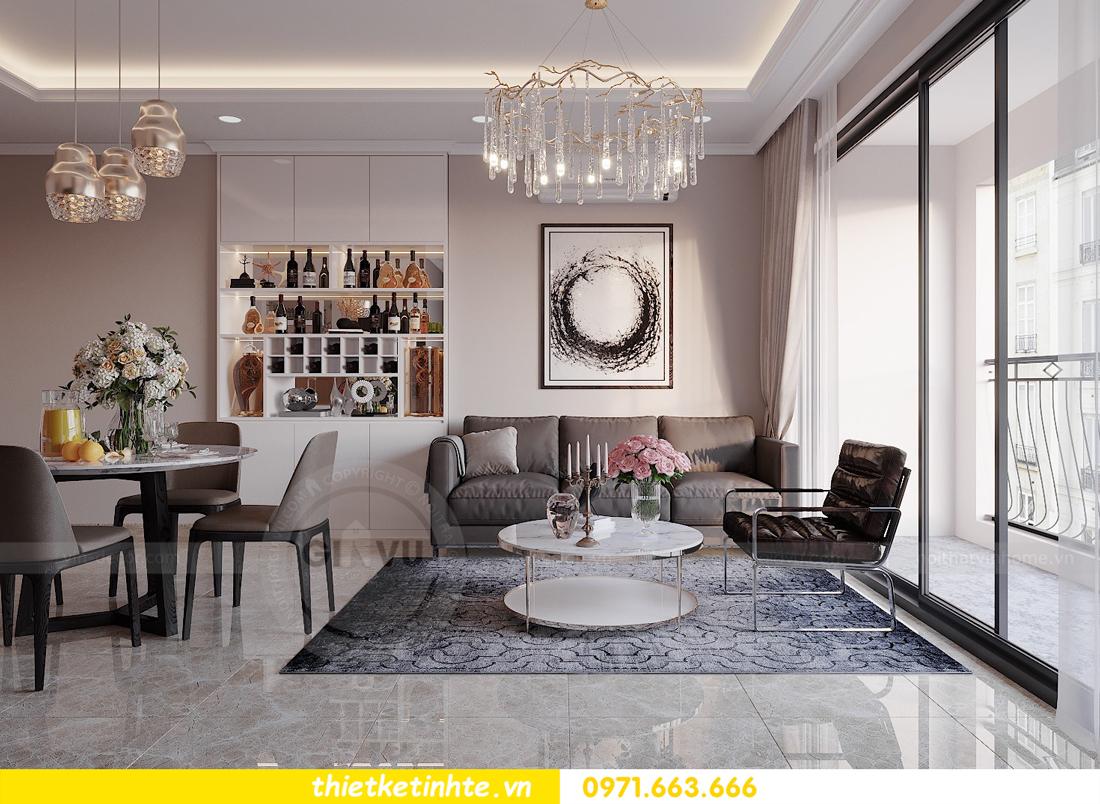 thiết kế nội thất hiện đại chung cư D Capitale tòa C1 căn 10 nhà anh Tuyên 04