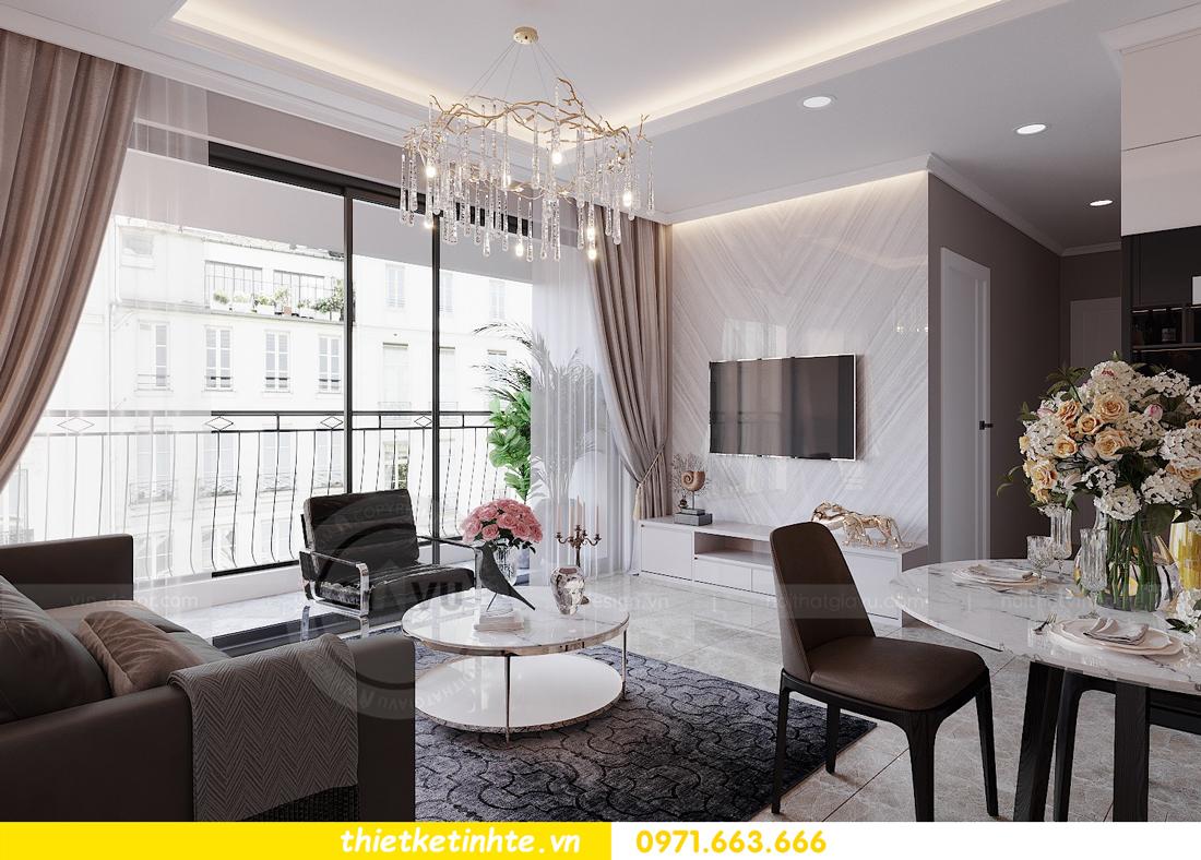 thiết kế nội thất hiện đại chung cư D Capitale tòa C1 căn 10 nhà anh Tuyên 05