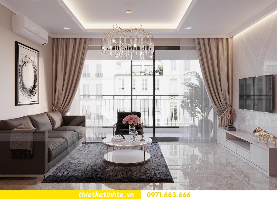 thiết kế nội thất hiện đại chung cư D Capitale tòa C1 căn 10 nhà anh Tuyên 06