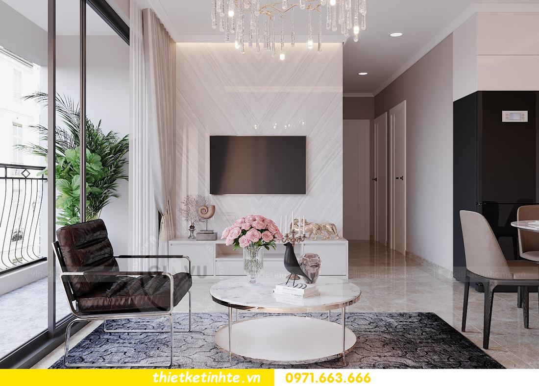 thiết kế nội thất hiện đại chung cư D Capitale tòa C1 căn 10 nhà anh Tuyên 07