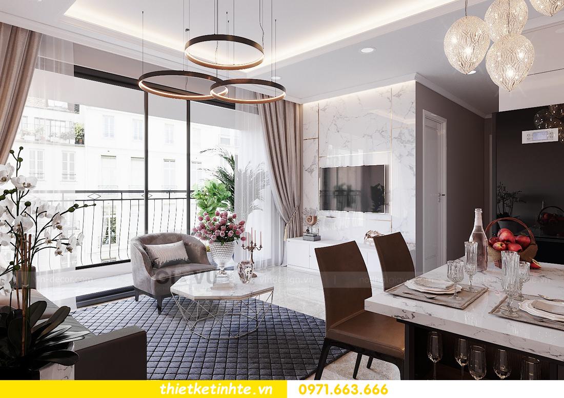 thiết kế nội thất Vinhomes DCapitale tòa C1 căn hộ 03 nhà anh Tĩnh 03