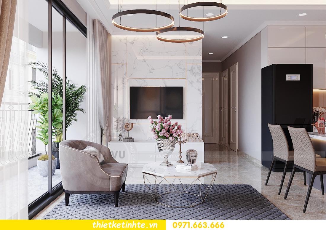 thiết kế nội thất Vinhomes DCapitale tòa C1 căn hộ 03 nhà anh Tĩnh 05