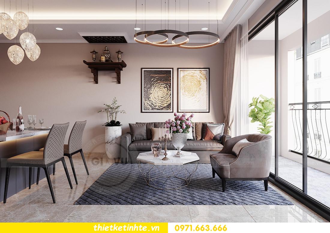 thiết kế nội thất Vinhomes DCapitale tòa C1 căn hộ 03 nhà anh Tĩnh 06