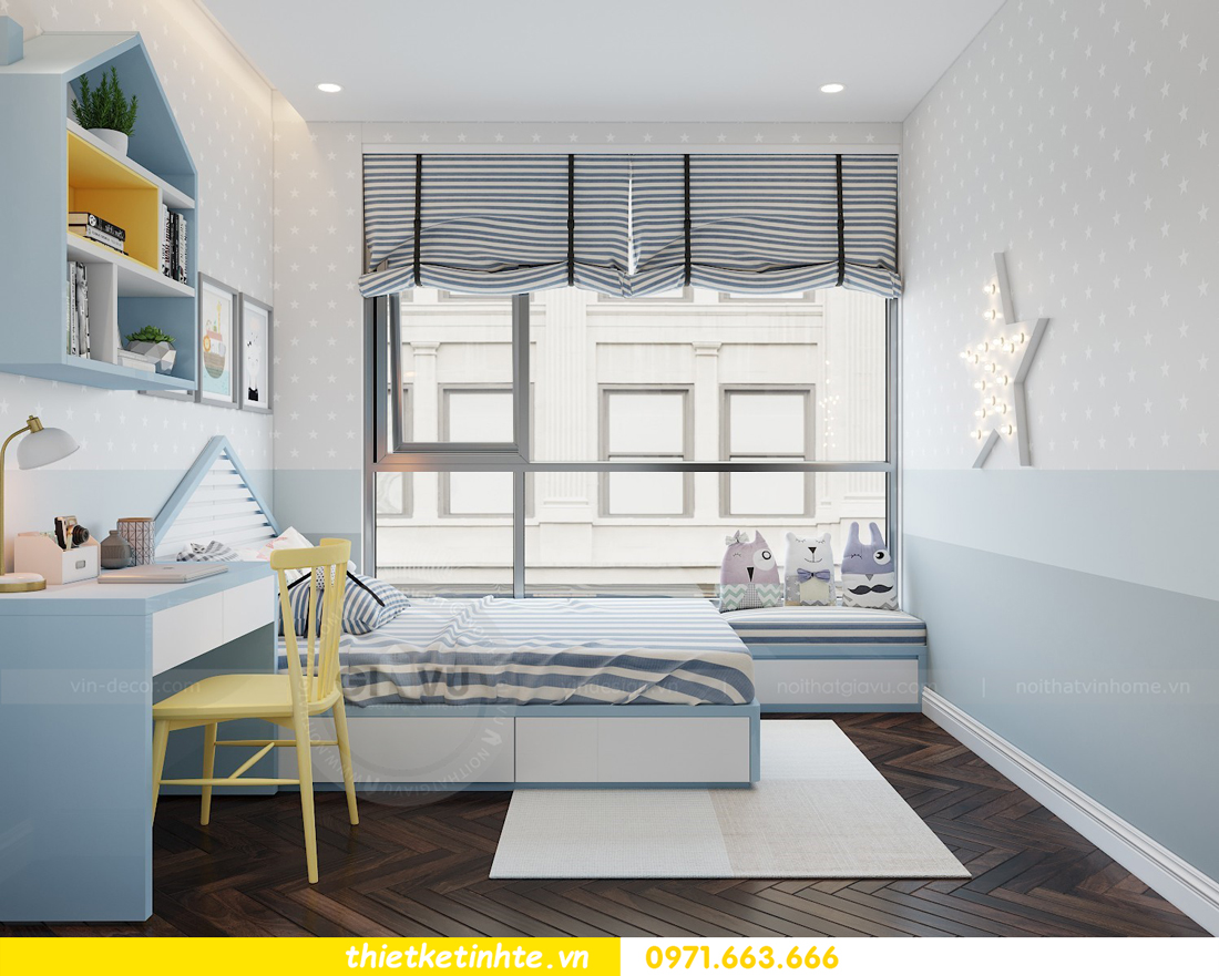 thiết kế thi công nội thất chung cư Metropolis tòa M3 căn 02 View11
