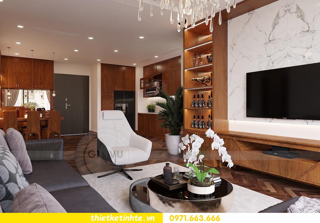 thiết kế thi công nội thất chung cư Metropolis tòa M3 căn 02 View3
