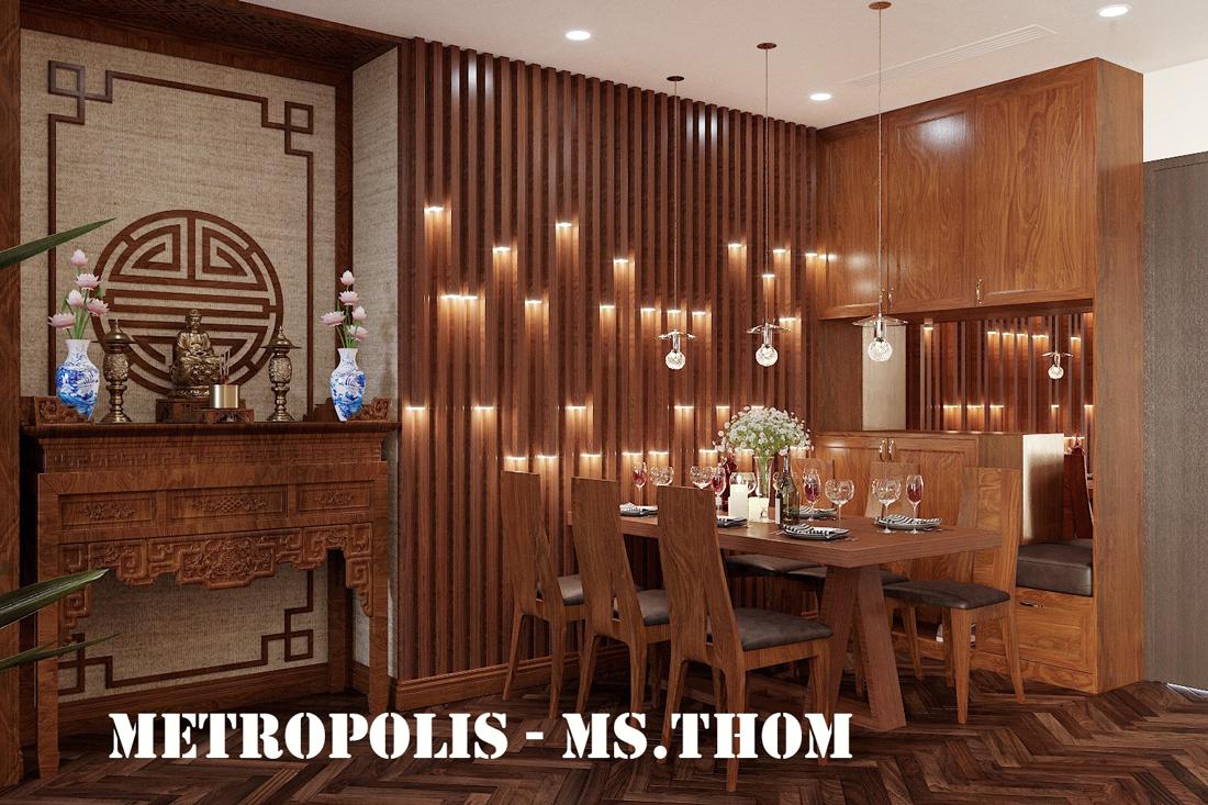 Thiết Kế Thi Công Nội Thất Chung Cư Metropolis Tòa M3 Căn 02 – Chị Thơm