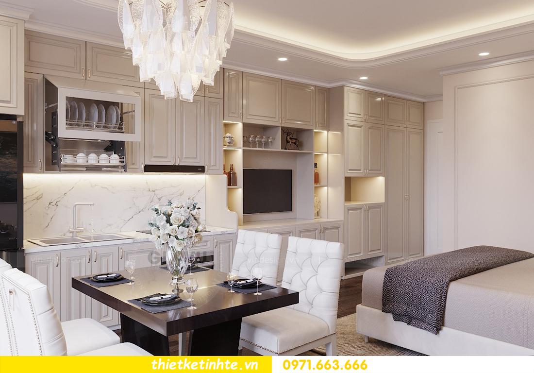 thiết kế căn hộ soho tòa C2 căn 02 DCapitale chị Hà 04