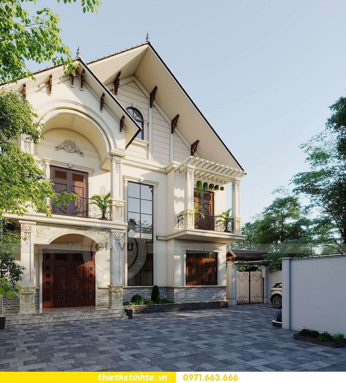 thiết kế kiến trúc biệt thự 3 tầng hiện đại nhà chú Đức 02