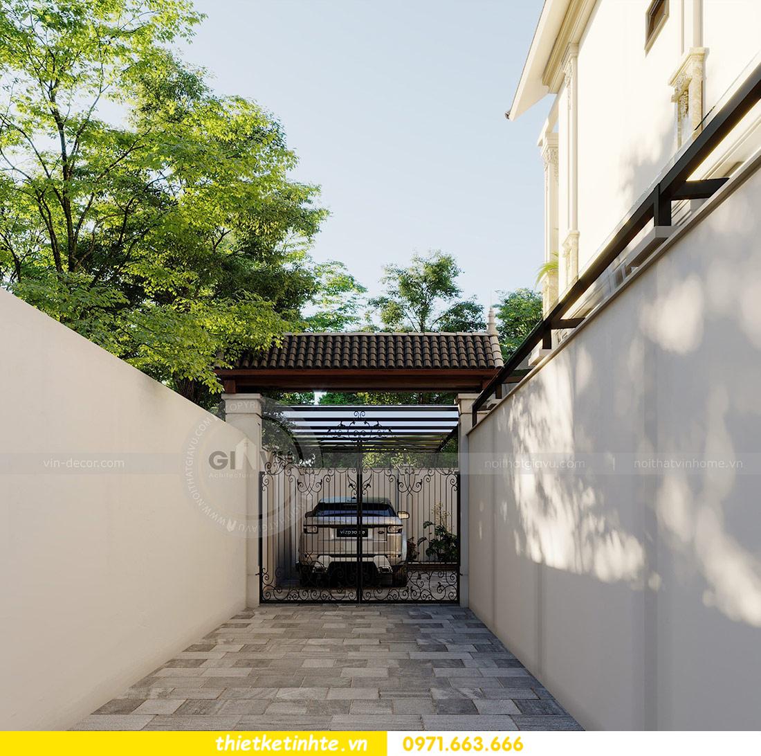 thiết kế kiến trúc biệt thự 3 tầng hiện đại nhà chú Đức 05