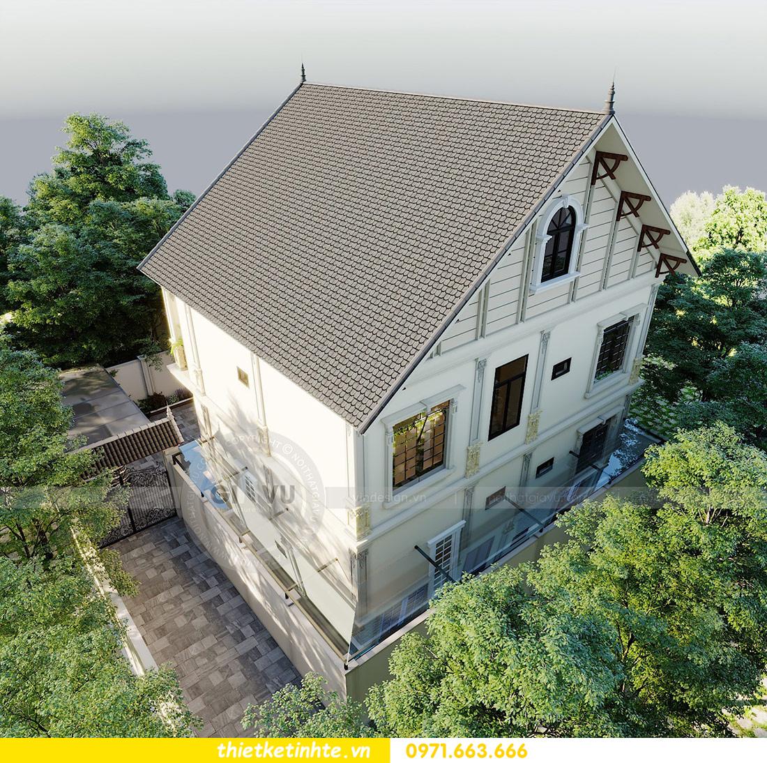 thiết kế kiến trúc biệt thự 3 tầng hiện đại nhà chú Đức 06