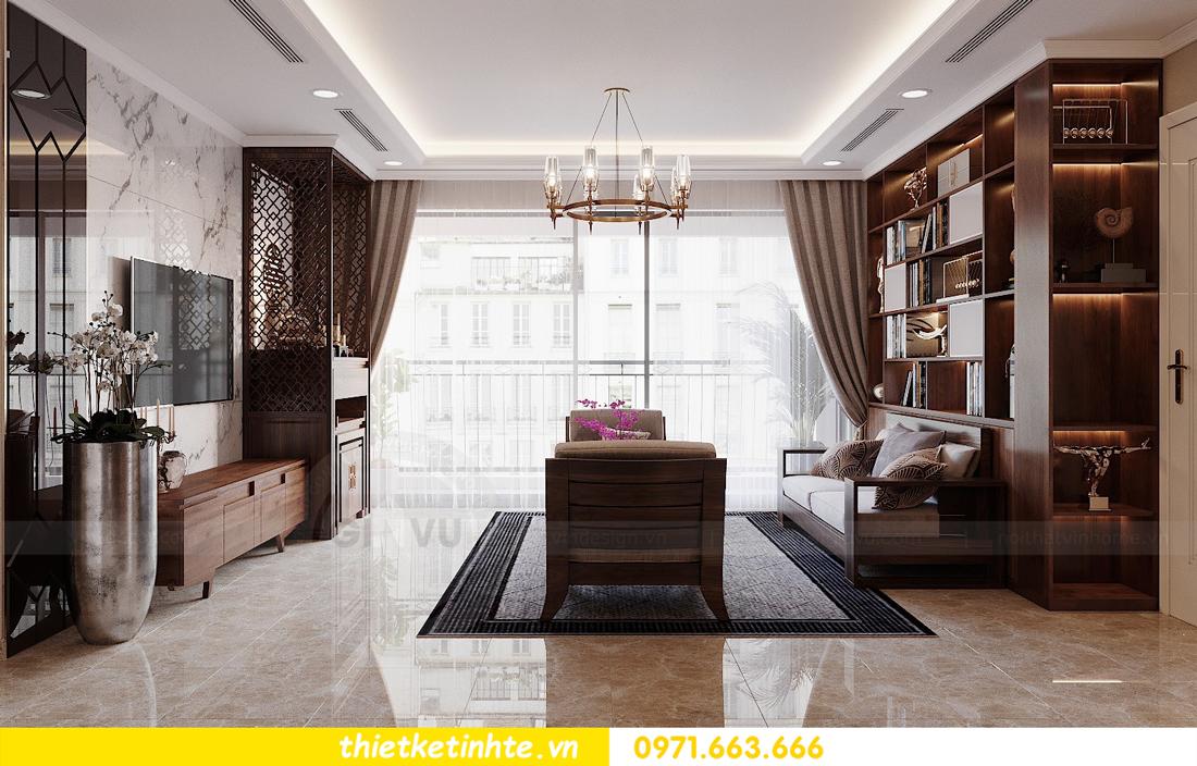 thiết kế nội thất căn hộ 3 phòng ngủ tòa C304 DCapitale chị Hạnh 3