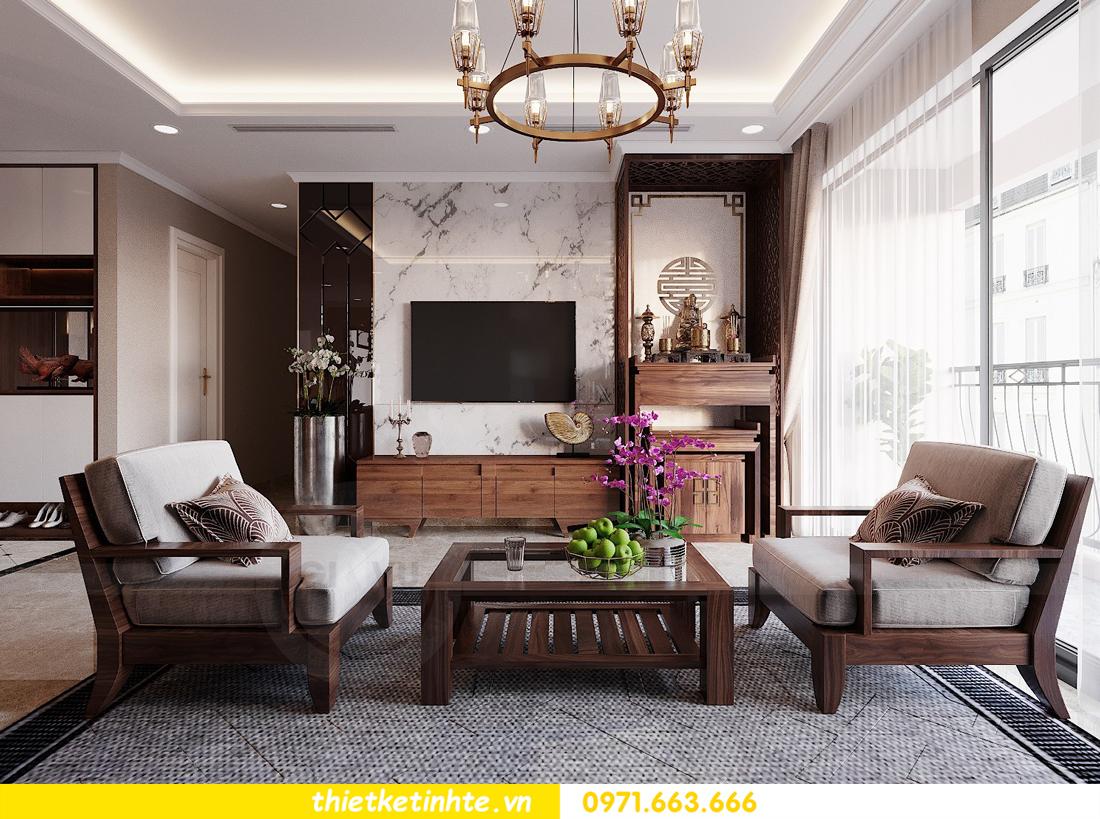thiết kế nội thất căn hộ 3 phòng ngủ tòa C304 DCapitale chị Hạnh 6