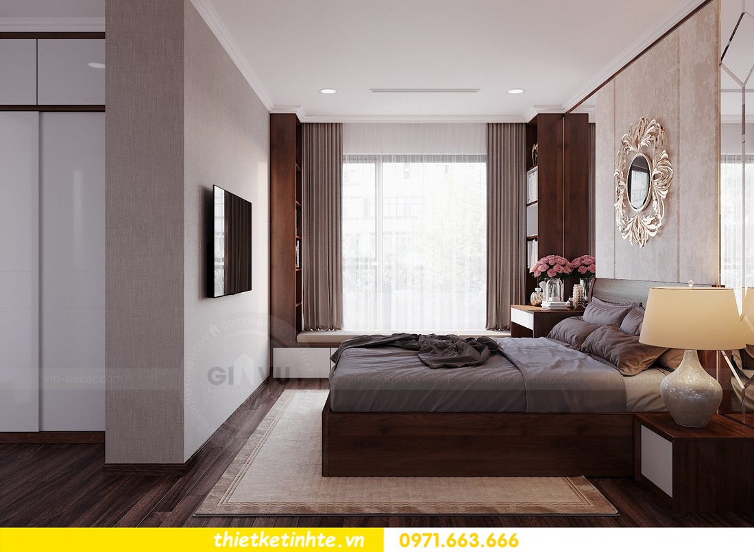 thiết kế nội thất căn hộ 3 phòng ngủ tòa C304 DCapitale chị Hạnh 9