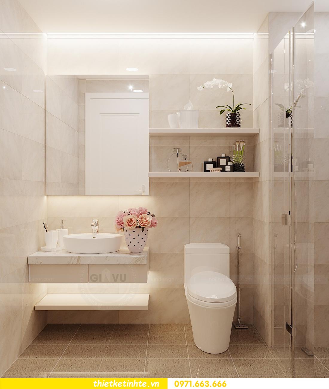 thiết kế nội thất căn hộ chung cư Green Bay G2 căn 10 12