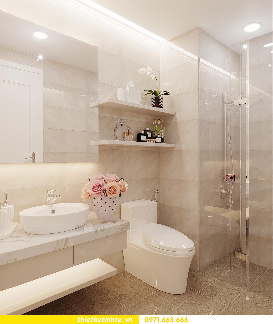 thiết kế nội thất căn hộ chung cư Green Bay G2 căn 10 13