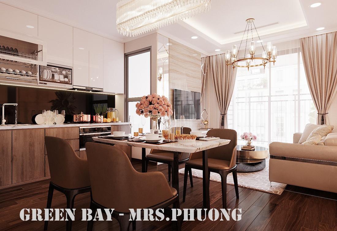 Thiết kế nội thất căn hộ chung cư Green Bay G2 căn 10