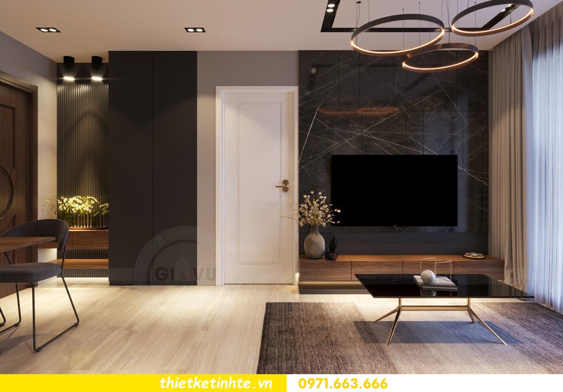 thiết kế nội thất cao cấp tại Vinhomes D Capitale tòa C307 chị Thắm 01