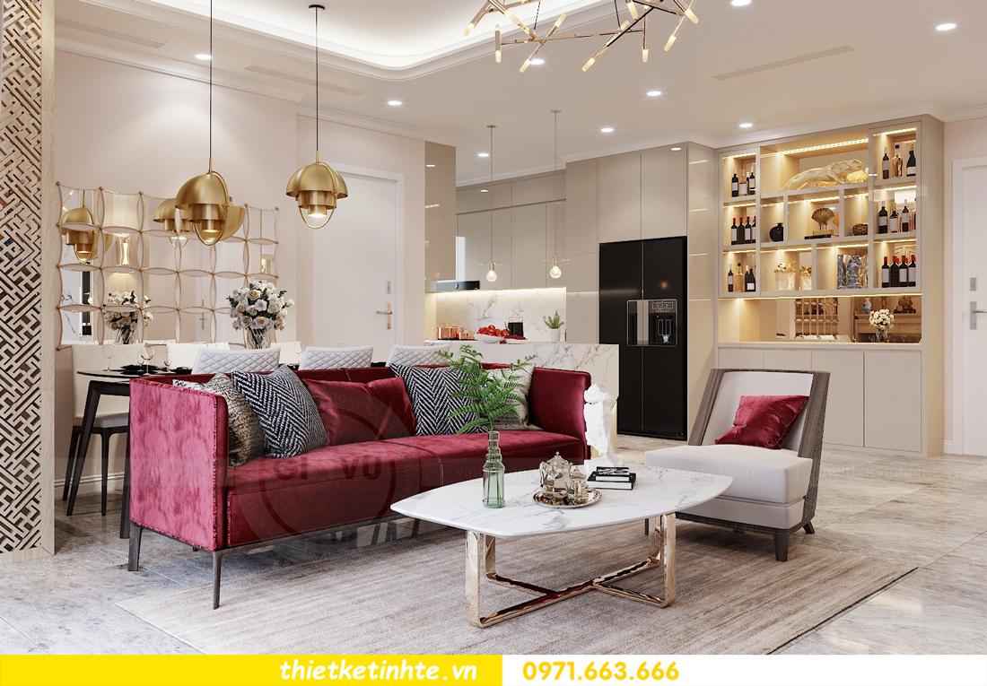 thiết kế nội thất chung cư 120m2 tòa C3 căn 04 Vinhomes D Capitale 1