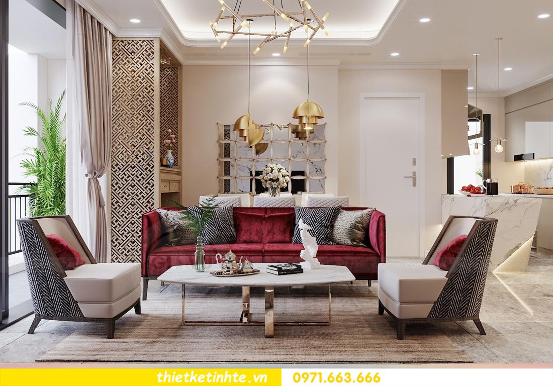 thiết kế nội thất chung cư 120m2 tòa C3 căn 04 Vinhomes D Capitale 2