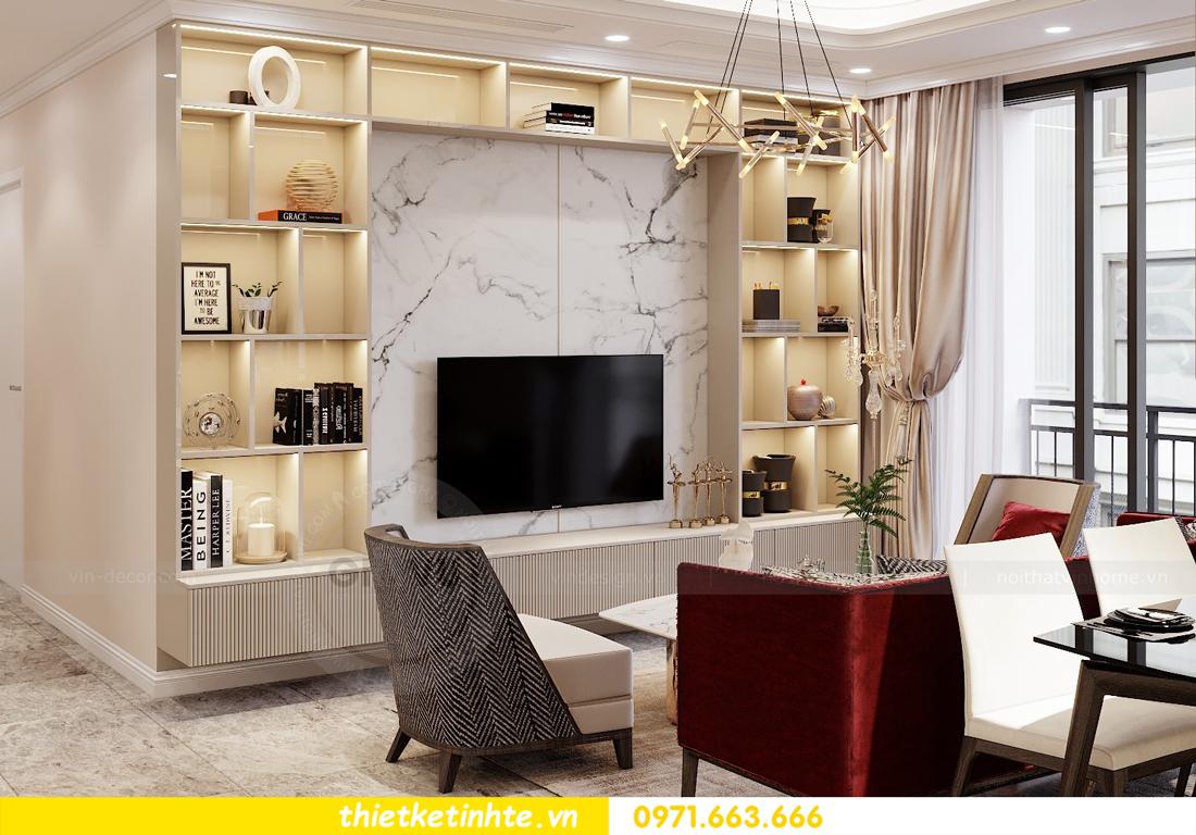 thiết kế nội thất chung cư 120m2 tòa C3 căn 04 Vinhomes D Capitale 4