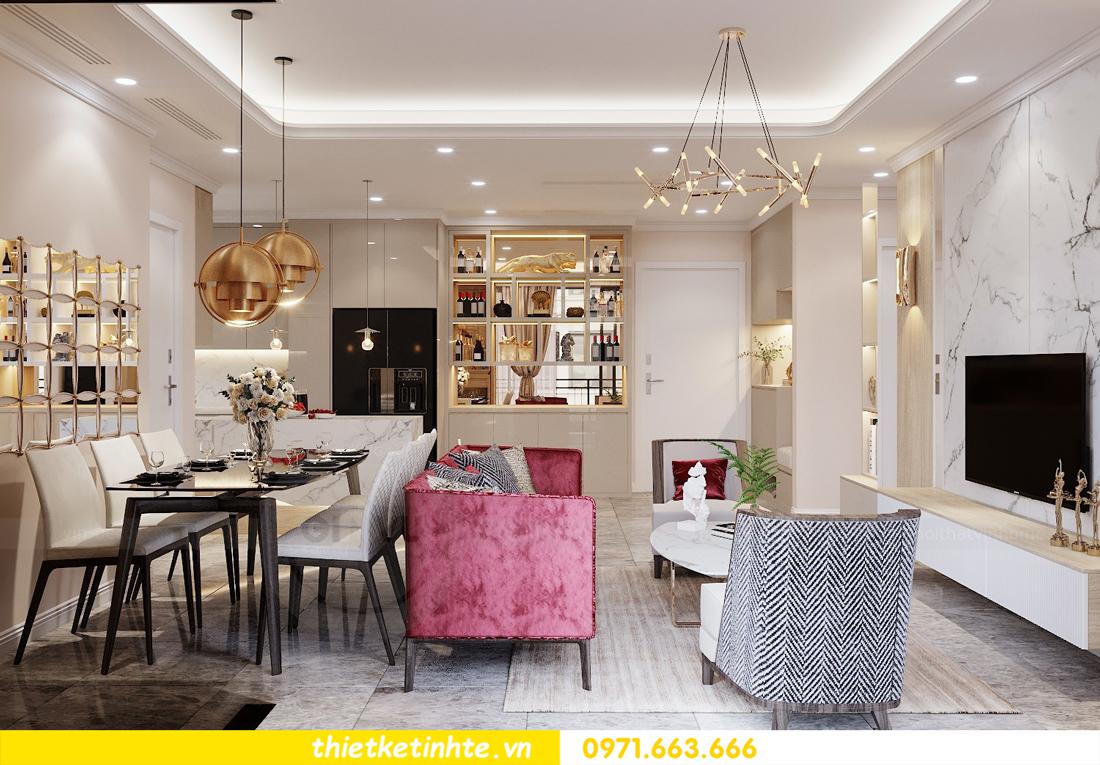 thiết kế nội thất chung cư 120m2 tòa C3 căn 04 Vinhomes D Capitale 5