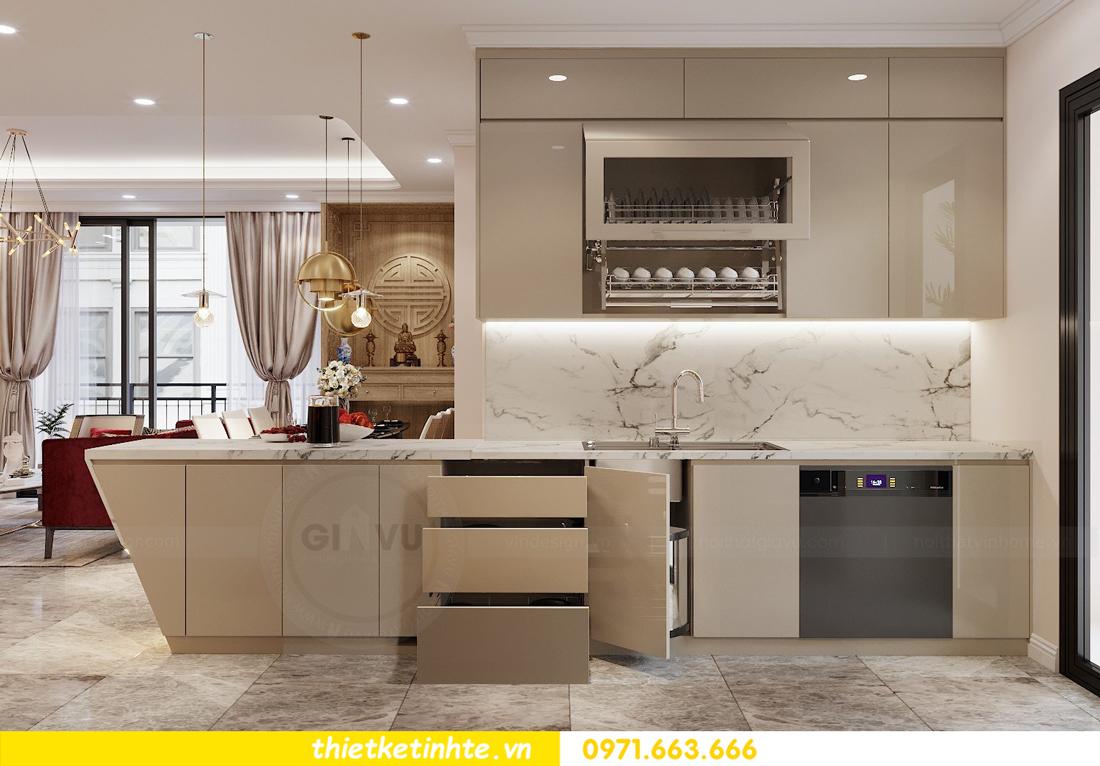 thiết kế nội thất chung cư 120m2 tòa C3 căn 04 Vinhomes D Capitale 8