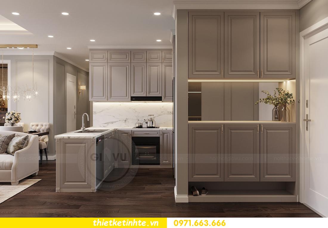 thiết kế nội thất chung cư 3 phòng ngủ căn C110 DCapitale 01