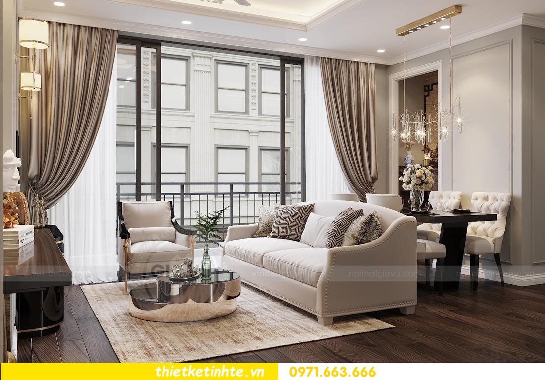 thiết kế nội thất chung cư 3 phòng ngủ căn C110 DCapitale 03