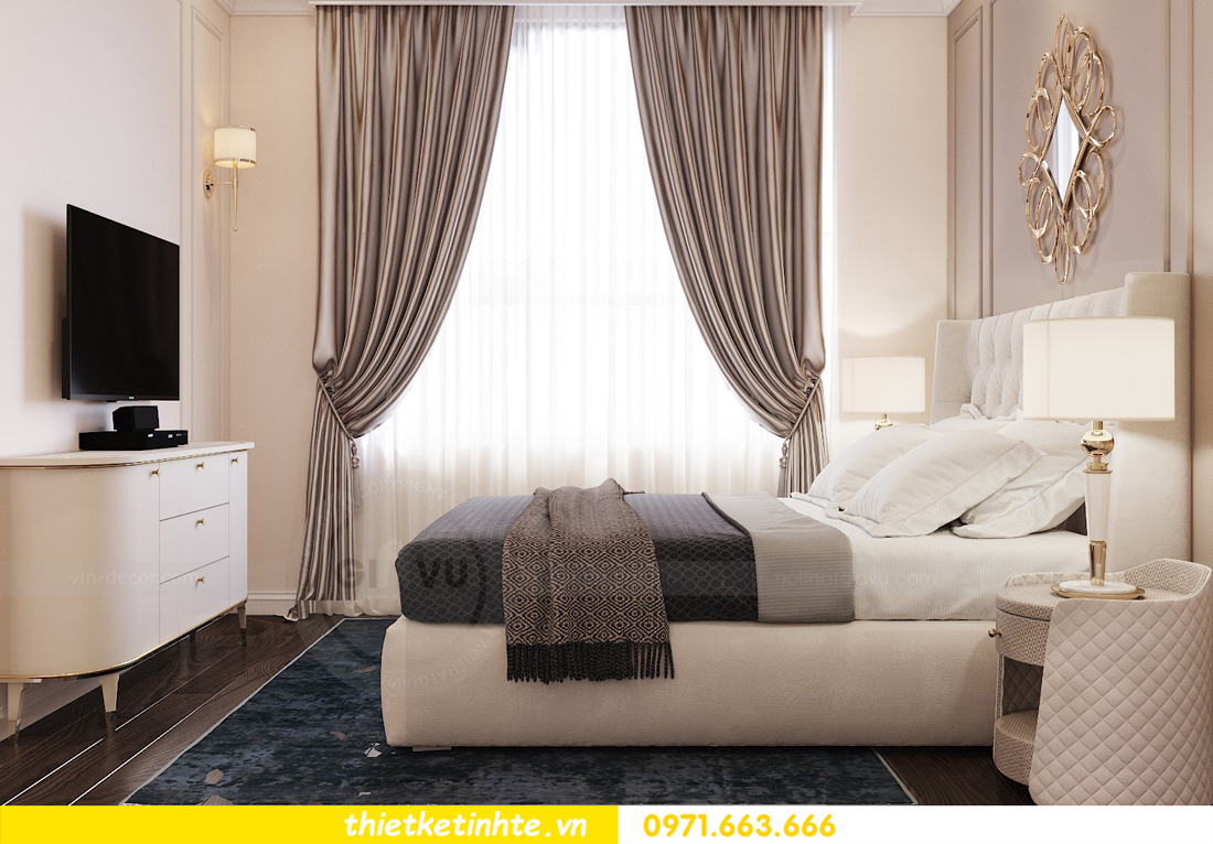 thiết kế nội thất chung cư 3 phòng ngủ căn C110 DCapitale 06
