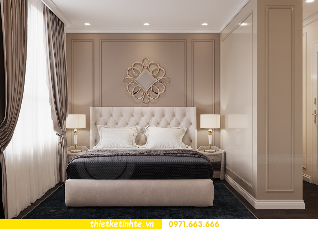 thiết kế nội thất chung cư 3 phòng ngủ căn C110 DCapitale 07