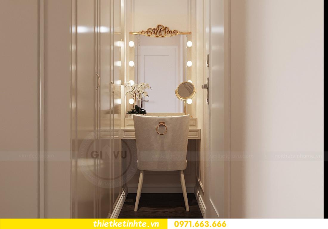 thiết kế nội thất chung cư 3 phòng ngủ căn C110 DCapitale 08
