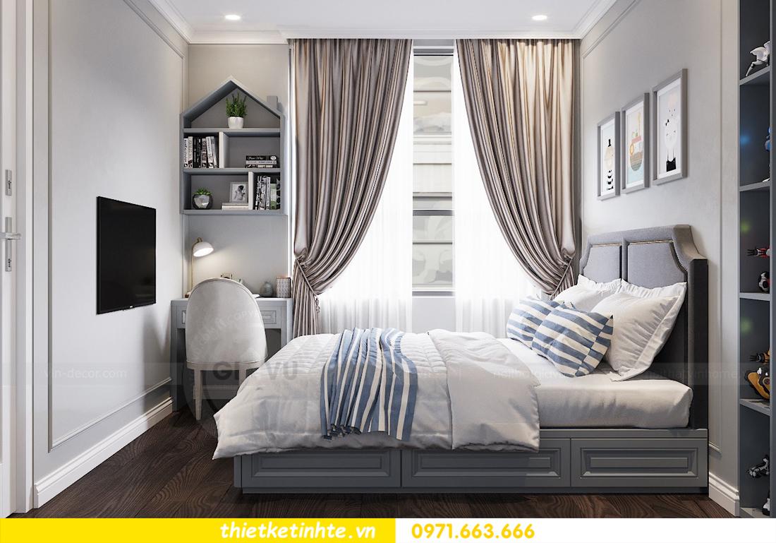 thiết kế nội thất chung cư 3 phòng ngủ căn C110 DCapitale 09