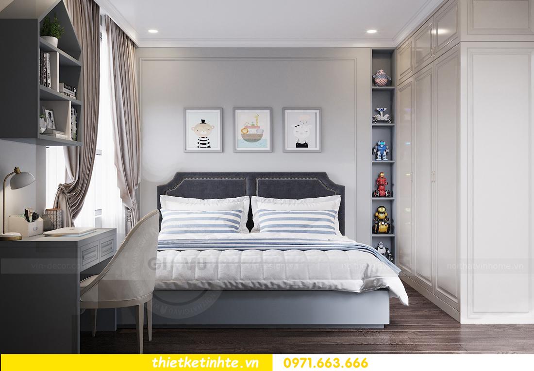 thiết kế nội thất chung cư 3 phòng ngủ căn C110 DCapitale 10